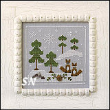 Frosty Forest #6 Snowy Foxes from Country Cottage Needleworks -- click to see more