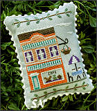 Main Street #7 Cafe from Country Cottage Needleworks -- click to see more