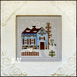 Frosty Forest #7 Snowgirl's Cottage from Country Cottage Needleworks -- click to see more