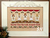 Hark!  The Herald Angels Sing from Country Cottage Needleworks - click to see more