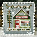 Snow Village part 9 Ice Creamery from Country Cottage Needleworks -- click to see more