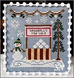Snow Village #8 Snowball Stand from Country Cottage Needleworks -- click to see more