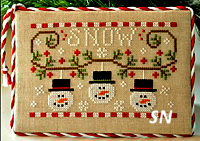 Snowman Trio from Country Cottage Needleworks -- click to see more