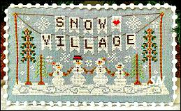 Snow Village part 1 from Country Cottage Needleworks -- click to see more