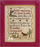 Cowboy Dreams from Country Cottage Needleworks -- click to see more