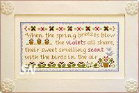 Spring Violets from Country Cottage Needleworks -- click to see lots more