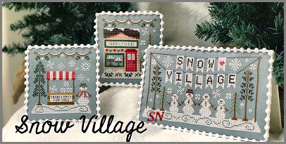 Announcing Snow Village from Country Cottage Needleworks -- click to see more