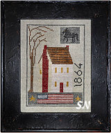 1864 House Sampler from Chessie & Me - click for more