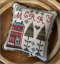 Be Merry Pyn Pillow from Chessie & Me
