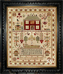 Esther Iddison 1832 Sampler from Chessie & Me - click for more