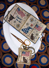 Chessie & Me Lady Liberty Needlebook and Fob -- click to see more