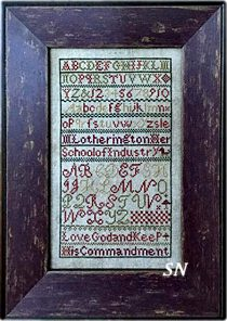M Lotherington's School of Industry Sampler from Chessie & Me