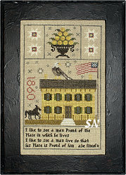 Lincoln Home 1860 Sampler from Chessie & Me - click for more