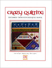 December Crazy Quilting Chart from Carolyn Manning Designs - click to see more