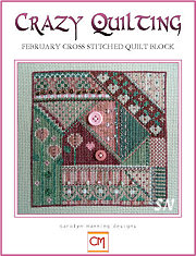 February Crazy Quilting Chart from Carolyn Manning Designs - click to see more
