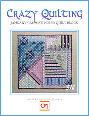 January Crazy Quilting Chart from Carolyn Manning Designs - click to see more