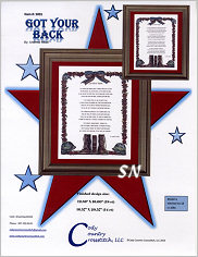 Got Your Back from Cody Country Crossstitch - click to see more