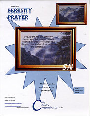Serenity Prayer from Cody Country Crossstitch - click to see more