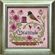 Songbird #12 Heart Full of Gratitude from Cottage Garden Samplings - click to see more