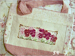 Pansies in Shades of Red from Country Garden Stitchery - click to see more