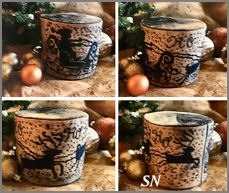 Ho Ho Ho Santa Drum from Dames of the Needle - click for more