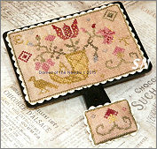 Quaker Flowers Hornbook and Pin Cushion from Dames of the Needle