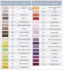 Presenting 35 new Colors of DMC Floss! Click through so you can see the larger version of this chart