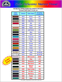 Color Infusions Memory Thread from DMC -- click to see more