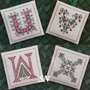 U V W X Alphabet Ornaments from The Drawn Thread -- click to see more