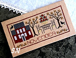 November Pocket Calendar Cover from The Drawn Thread - click to see more