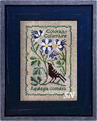 Botanical Stitches - Aquilegia coerulea - Colorado Columbine from The Drawn Thread -- click to see more