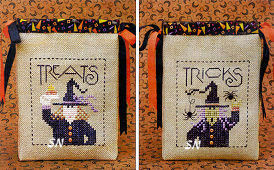 The Tricky Witch Treat Bags from The Drawn Thread -- click to see more