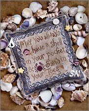 Beach Blessing - Cross Stitch on Linen from Erica Michaels - click for more