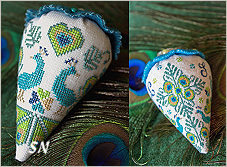 Peacock Party Berry from Erica Michaels - click for more