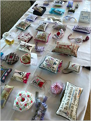 Our pin cushion exchange! Click for a larger view