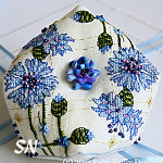 Faby Reilly Designs Cornflower Biscornu - click to see more