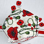 Faby Reilly Designs Poppy Biscornu - click to see more