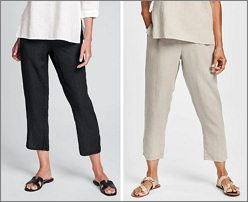 Pocketed Ankle Pants - click for a larger view