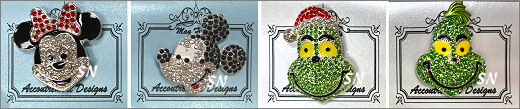 Limited Edition Jeweled Needle Minder Magnets by Accoutrement Designs - click for more