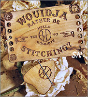 Ouija Board Thread Organizer with Planchette from Retromantic Fripperies