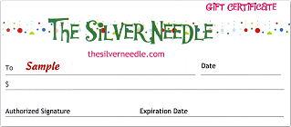 Silver Needle Gift Certificate -- click to buy yours!