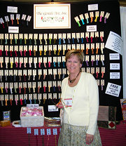Lindy in Gentle Art's booth at a recent show