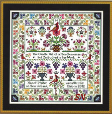 Cardinal Points by Long Dog Samplers for The Gentle Art -- click to see more