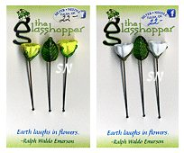 Glass Flower Counting Pins - click for more
