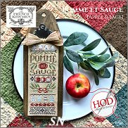 French Kitchen Pomme et Sauge Apples & Sage from Hands On Design - click to see more