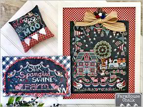 Farmhouse Chalk #2 Star Spangled Swine Farm from Hands On Design - click to see more