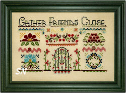 Gather Friends Close framed from Hands On Design - click to see more