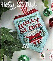 Secret Santa hd-203 Holly St. Nick from Hands On Design - click to see more