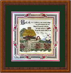 Cottage by the Sea Sampler from Hearts Ease Examplar Workes - click to see more