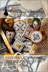 Beekeeping Edition Festive Little Fobs from Heartstring Samplery - click for more